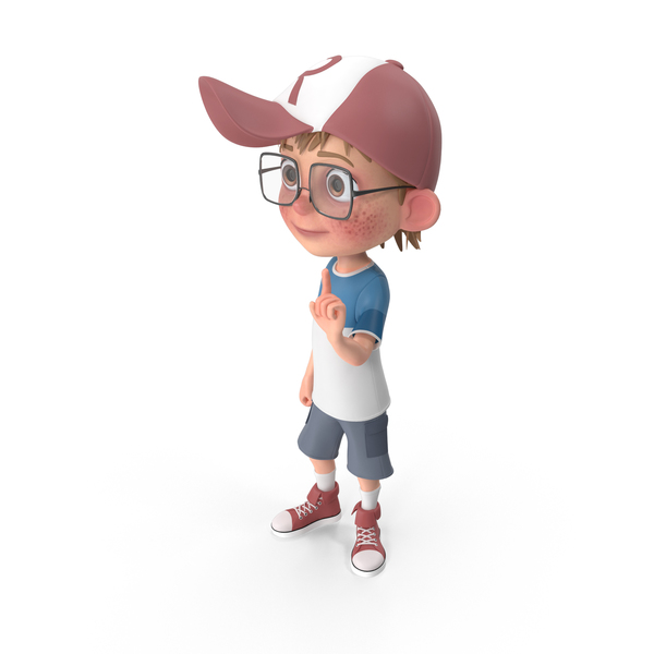 Cartoon Boy Attention PNG & PSD Images