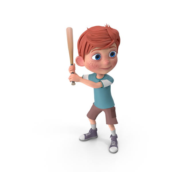 Cartoon Boy Charlie Baseball PNG & PSD Images