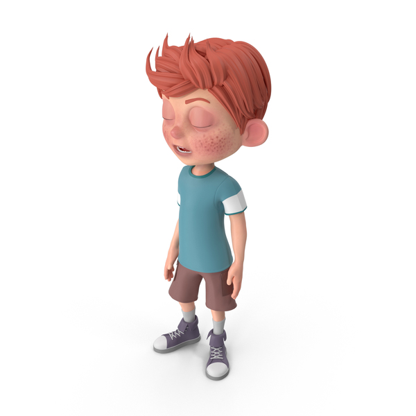 Cartoon Boy Charlie Bored PNG & PSD Images