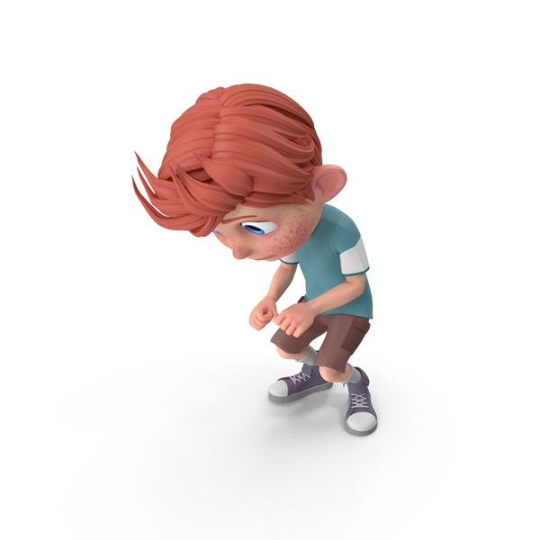 Cartoon Boy Charlie Crouching PNG & PSD Images