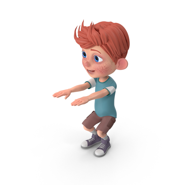 Cartoon Boy Charlie Doing Aerobics PNG & PSD Images
