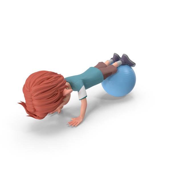 Cartoon Boy Charlie Doing Push-Ups PNG & PSD Images