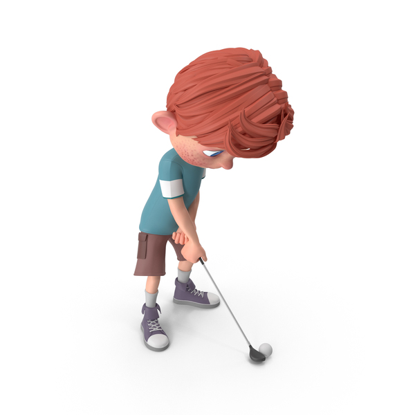 Cartoon Boy Charlie Golfing PNG & PSD Images