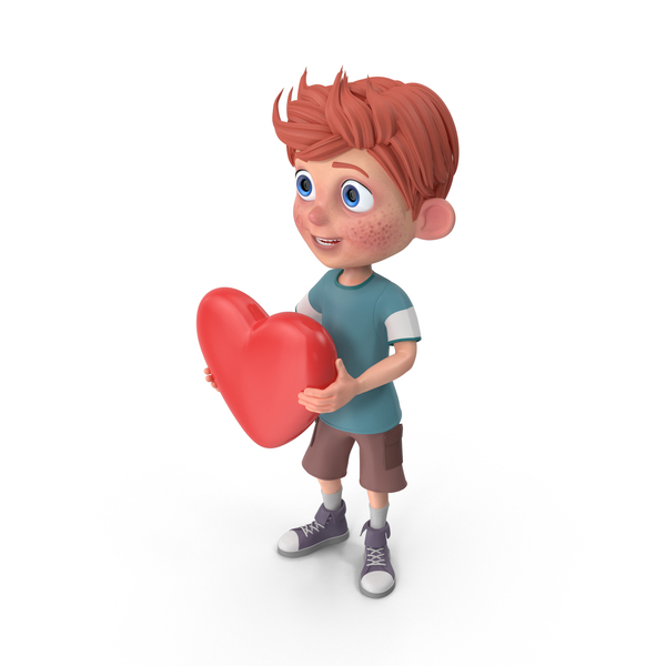 Cartoon Boy Charlie Heart PNG & PSD Images