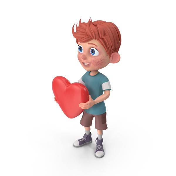 Cartoon Boy Charlie Heart PNG & PSD Images