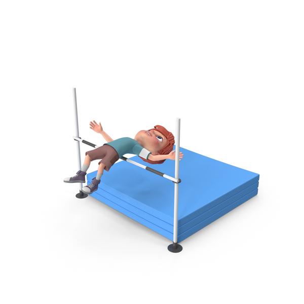Cartoon Boy Charlie High Jump PNG & PSD Images