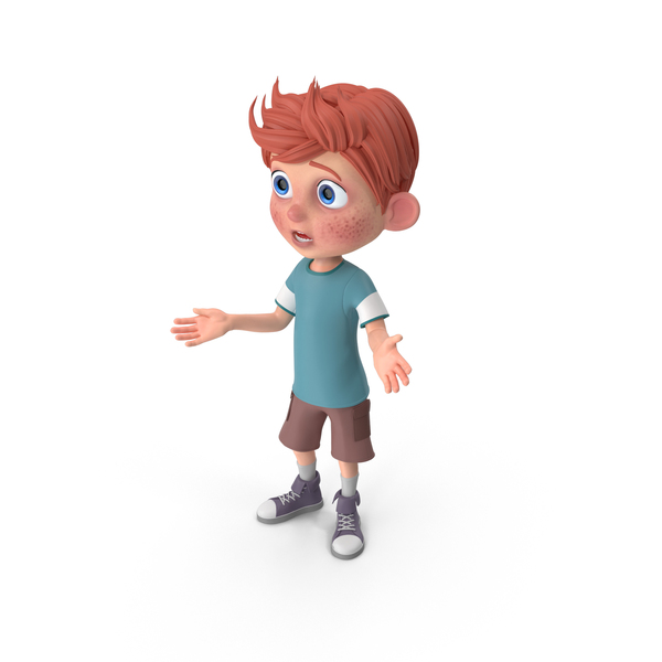 Cartoon Boy Charlie Lost PNG & PSD Images