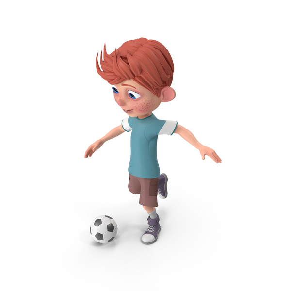 Cartoon Boy Charlie Playing Soccer PNG & PSD Images