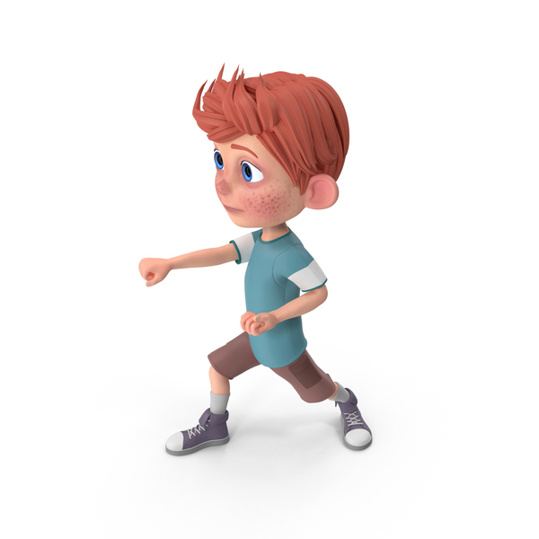 Cartoon Boy Charlie Punching PNG & PSD Images