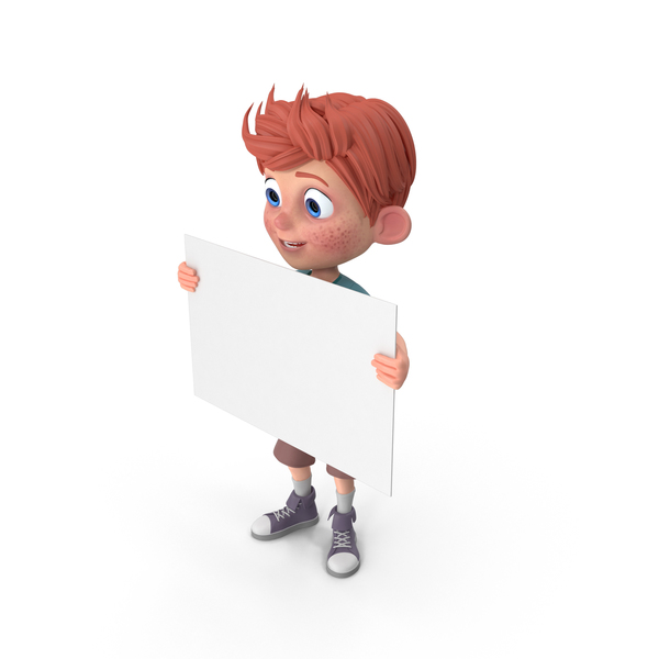 Cartoon Boy Charlie Sign PNG & PSD Images