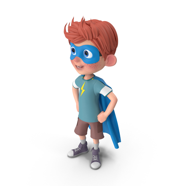Cartoon Boy Charlie Superhero PNG & PSD Images