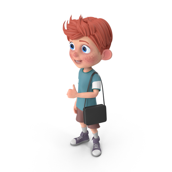 Cartoon Boy Charlie Traveling PNG & PSD Images