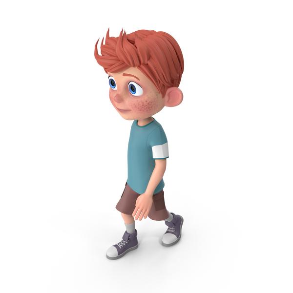Cartoon Boy Charlie Walking PNG & PSD Images