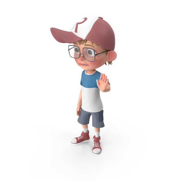 Cartoon Boy Goodbye PNG & PSD Images