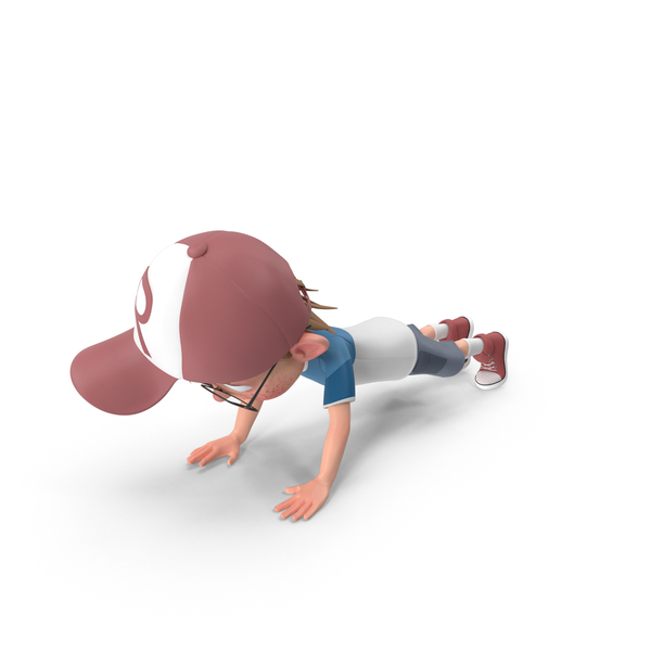 Cartoon Boy Harry Doing Push-Ups PNG & PSD Images