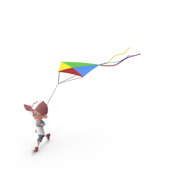 Cartoon Boy Harry Flying Kite PNG & PSD Images