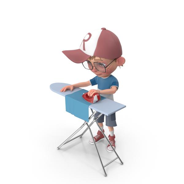 Cartoon Boy Harry Ironing PNG & PSD Images