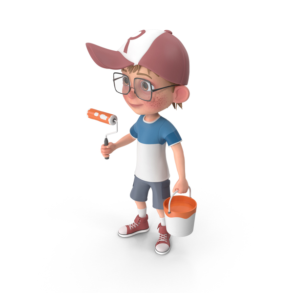 Cartoon Boy Harry Painting PNG & PSD Images