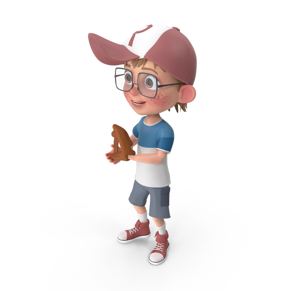 Cartoon Boy Harry Playing Baseball PNG & PSD Images