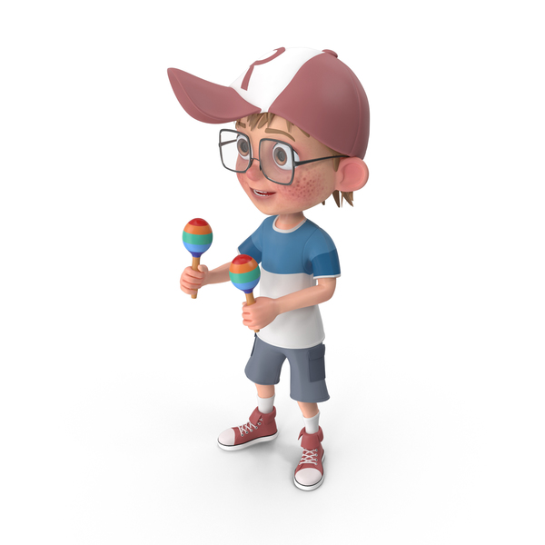 Cartoon Boy Harry Playing Maracas PNG & PSD Images