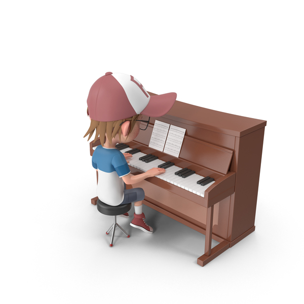 Cartoon Boy Harry Playing Piano PNG & PSD Images