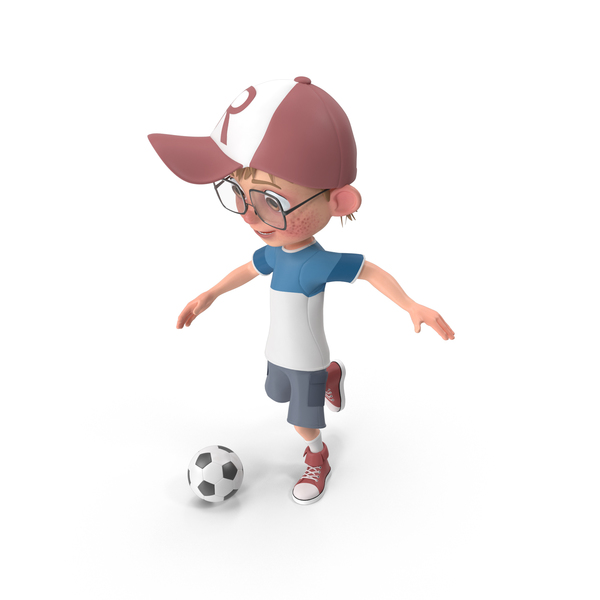 Cartoon Boy Harry Playing Soccer PNG & PSD Images