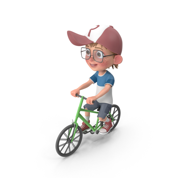 Cartoon Boy Harry Riding Bicycle PNG & PSD Images