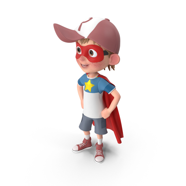 Cartoon Boy Harry Superhero PNG & PSD Images
