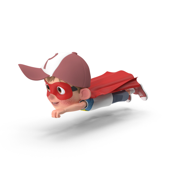 Cartoon Boy Harry Superhero Flying PNG & PSD Images