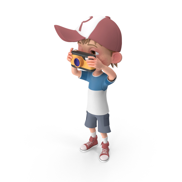Cartoon Boy Harry Taking Pictures PNG & PSD Images