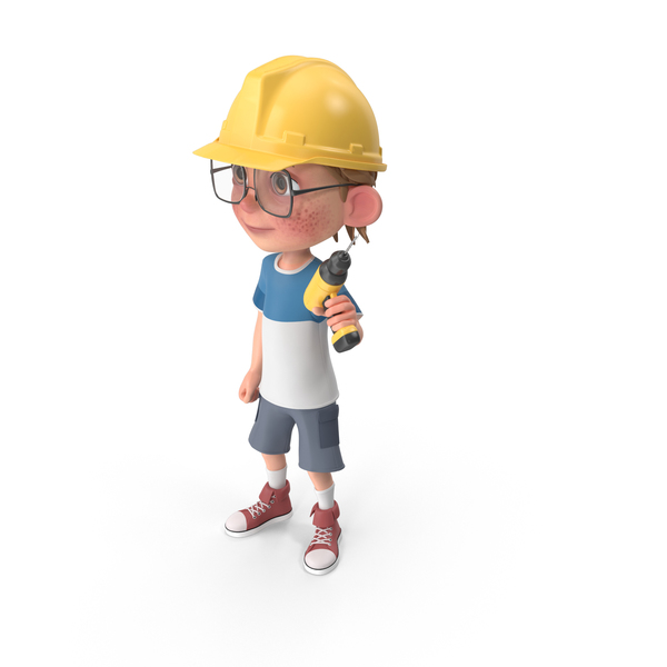 Cartoon Boy Harry Worker PNG & PSD Images
