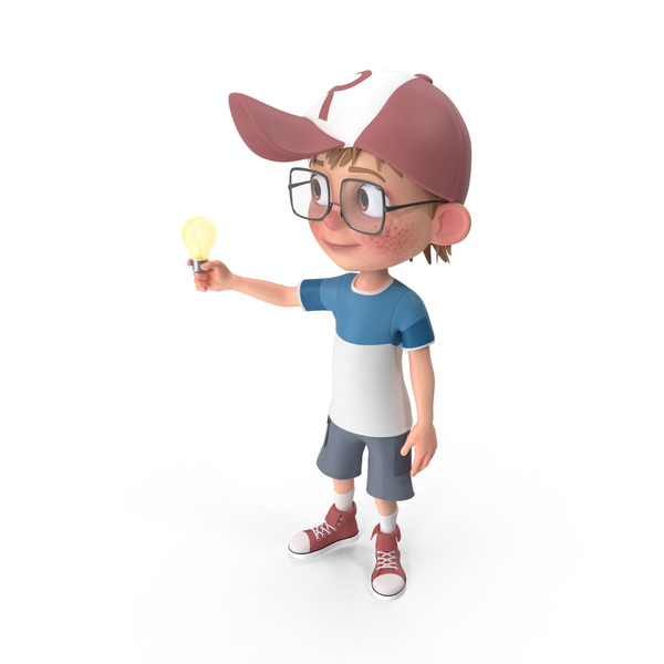 Cartoon Boy Has An Idea PNG & PSD Images
