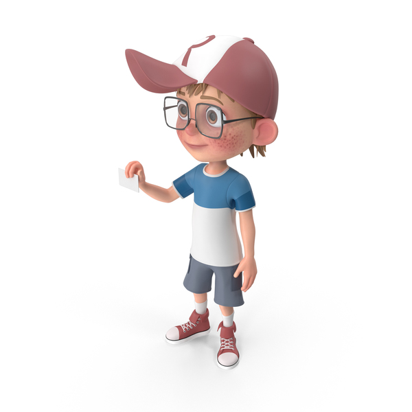 Cartoon Boy Holding a Sign PNG & PSD Images