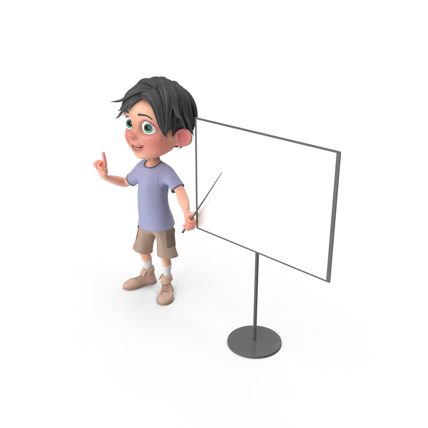 Cartoon Boy Jack At Presentation PNG & PSD Images