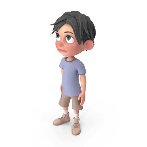 Cartoon Boy Jack Bored PNG & PSD Images