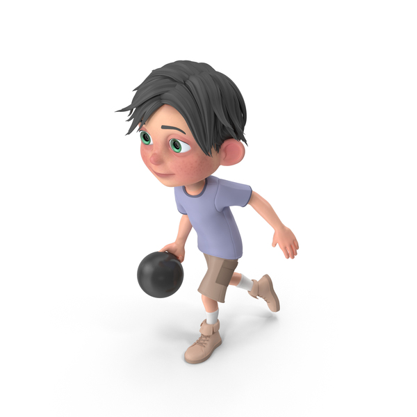 Cartoon Boy Jack Bowling PNG & PSD Images
