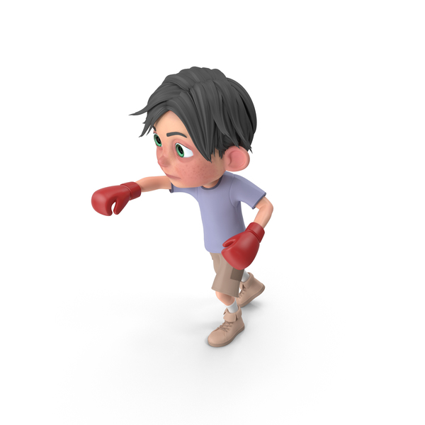 Cartoon Boy Jack Boxing PNG & PSD Images
