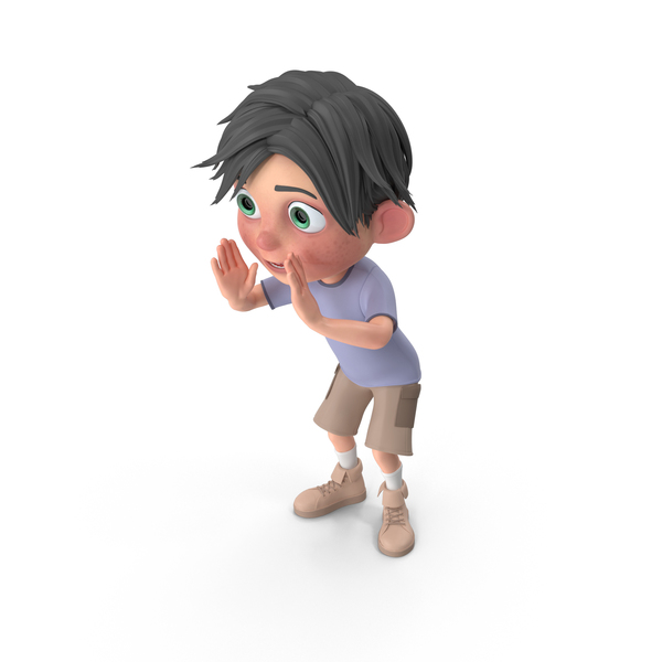 Cartoon Boy Jack Cheering PNG & PSD Images