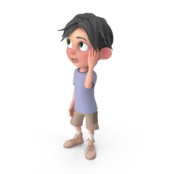 Cartoon Boy Jack Confused PNG & PSD Images