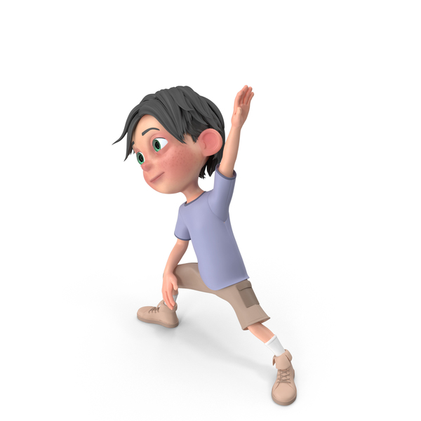 Cartoon Boy Jack Doing Aerobics PNG & PSD Images