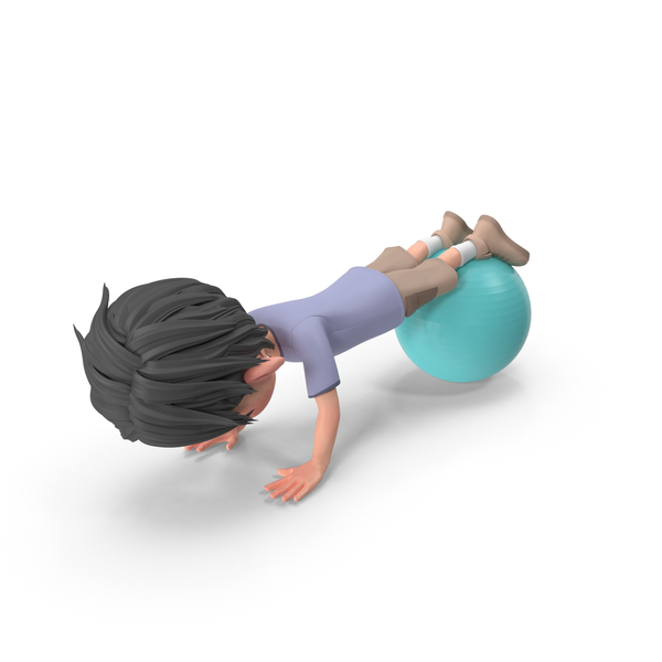 Cartoon Boy Jack Doing Push-Ups PNG & PSD Images