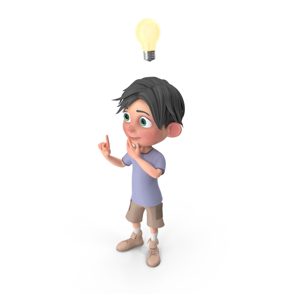 Cartoon Boy Jack Has An Idea PNG & PSD Images