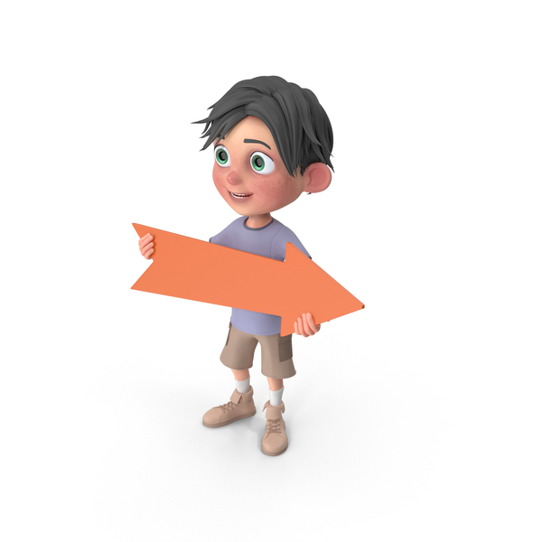 Cartoon Boy Jack Holding Pointer PNG & PSD Images