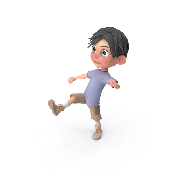 Cartoon Boy Jack Kicking PNG & PSD Images