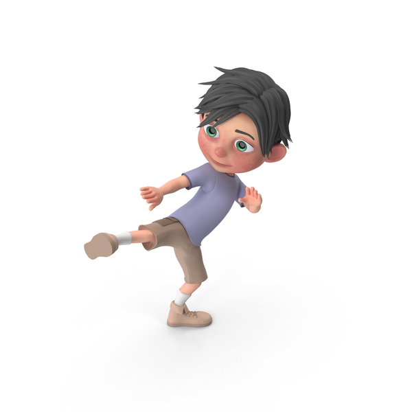 Cartoon Boy Jack Learning Martial Arts PNG & PSD Images