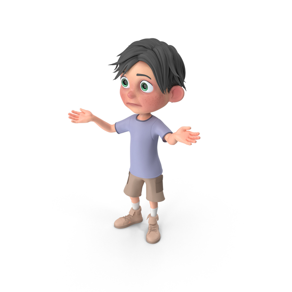 Cartoon Boy Jack Lost PNG & PSD Images