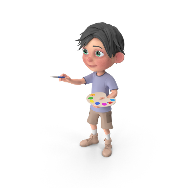 Cartoon Boy Jack Painting PNG & PSD Images