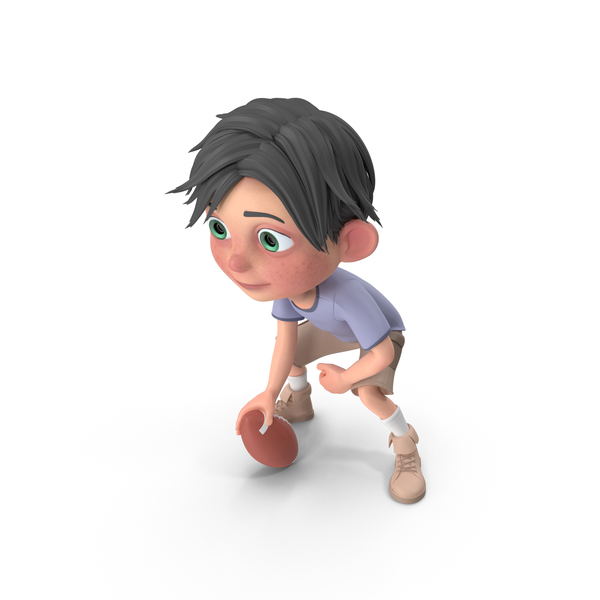 Cartoon Boy Jack Playing Football PNG & PSD Images