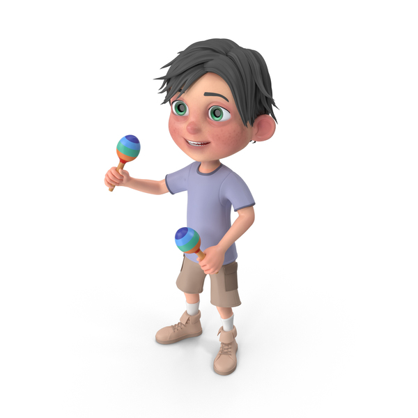 Cartoon Boy Jack Playing Maracas PNG & PSD Images