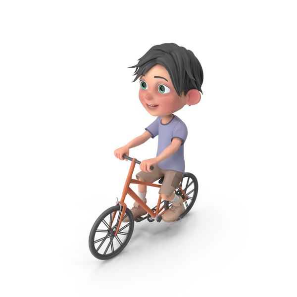 Cartoon Boy Jack Riding Bicycle PNG & PSD Images